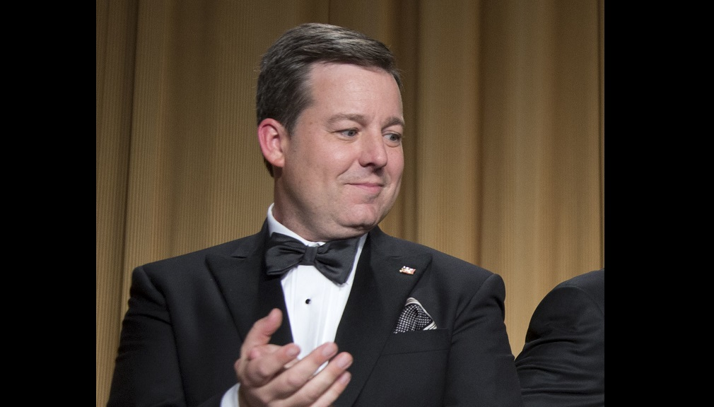 FILE - In this April 27, 2013, file photo, Ed Henry, Chief White House Correspondent for Fox News, applauds during the White House Correspondents' Association Dinner in Washington. Fox News has fired news anchor Ed Henry after it received a complaint about workplace sexual misconduct by him. Fox said the current complaint was based on an incident that happened 'years ago.' (AP Photo/Carolyn Kaster, File)