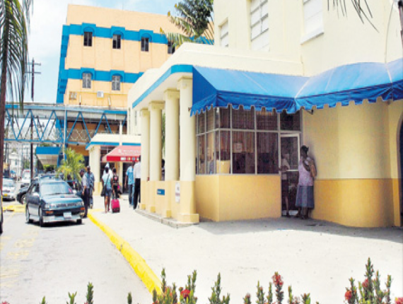 File photo of a section of the Kingston Public Hospital compound.