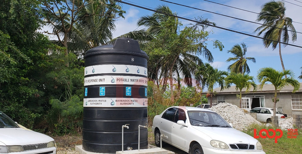 Community water tank in St Joseph (FILE)