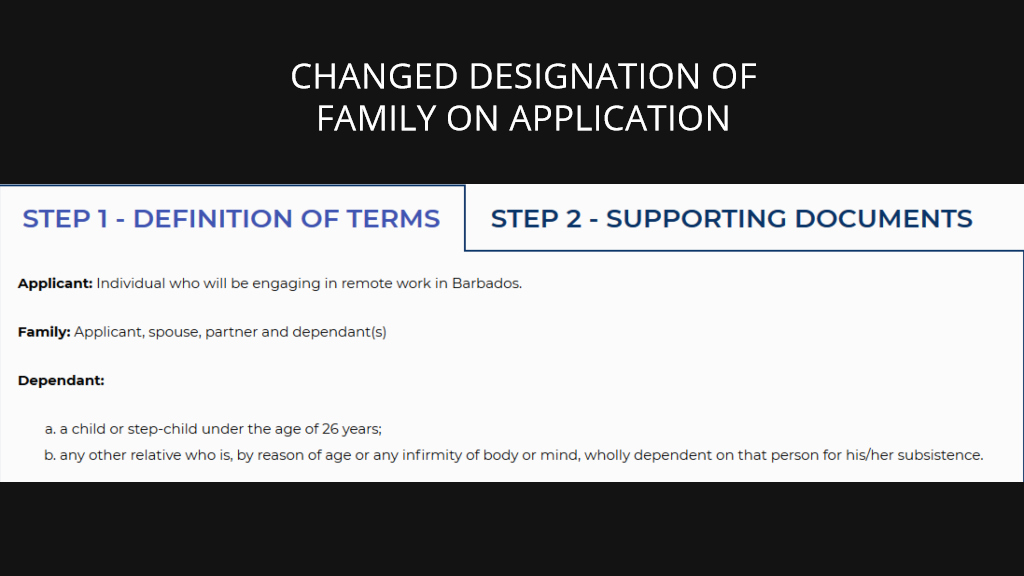Welcome Stamp changes family designation to include partners
