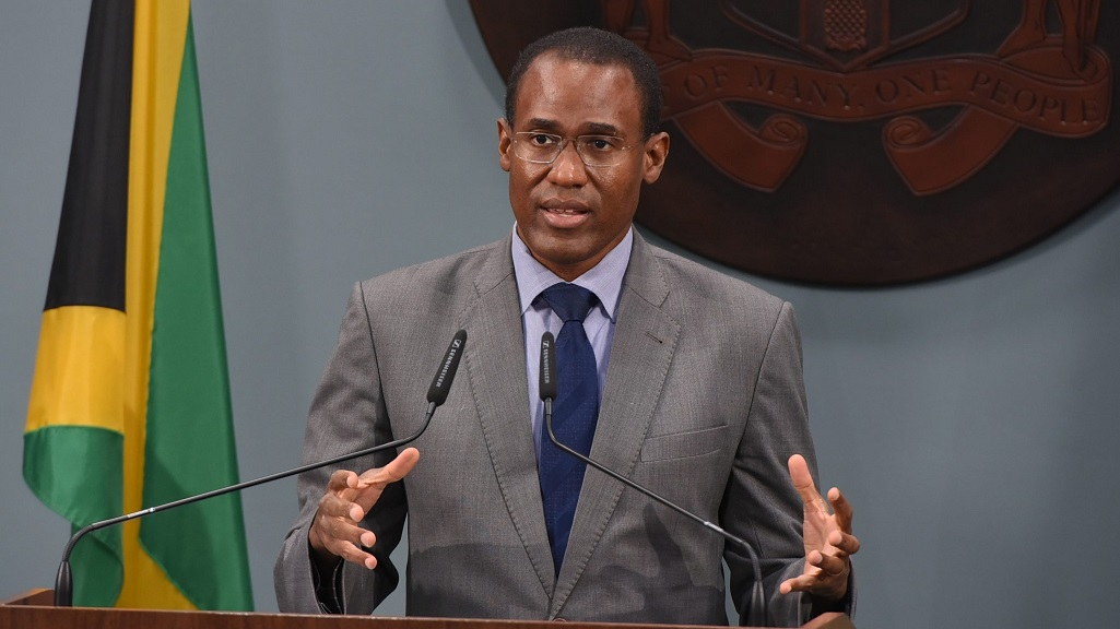 Chairman of the Task Force and Minister of Finance and the Public Service, Dr Nigel Clarke.