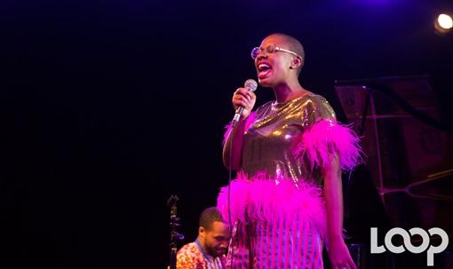 Cécile McLorin sur la scène du PaP Jazz dimanche 20 janvier 2019 au Karibe hotel./Photo: Loop Haiti-Rosny Ladouceur