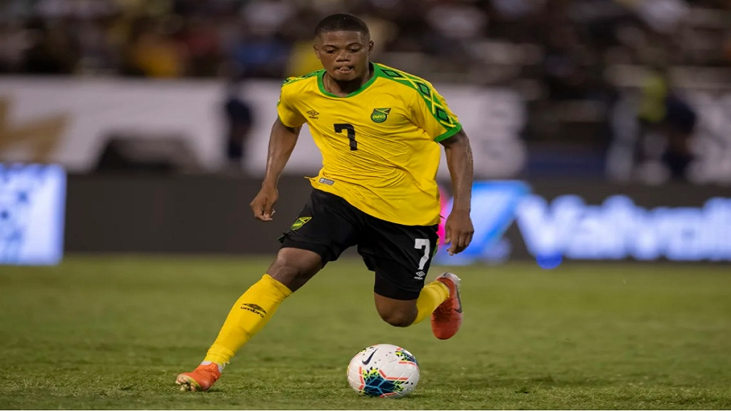 Leon Bailey in action for the Reggae Boyz.