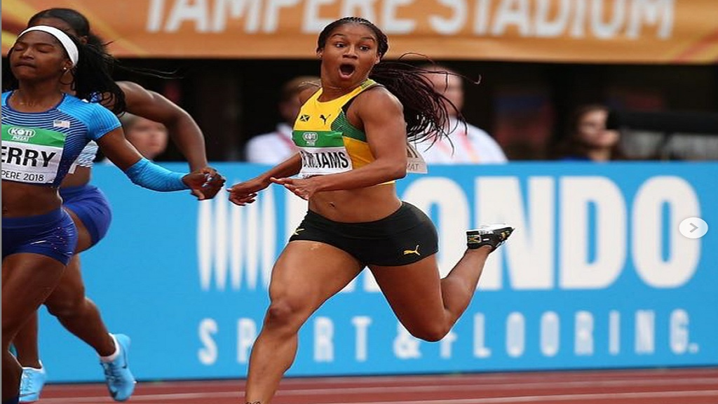 Jamaica's 18-year- old standout sprinter Briana Williams.