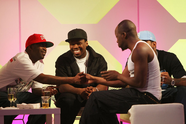 Lloyd Banks (à g.), 50 Cent (milieu), Wyclef Jean (à d.)/Photo: MTV Australia Awards 2008