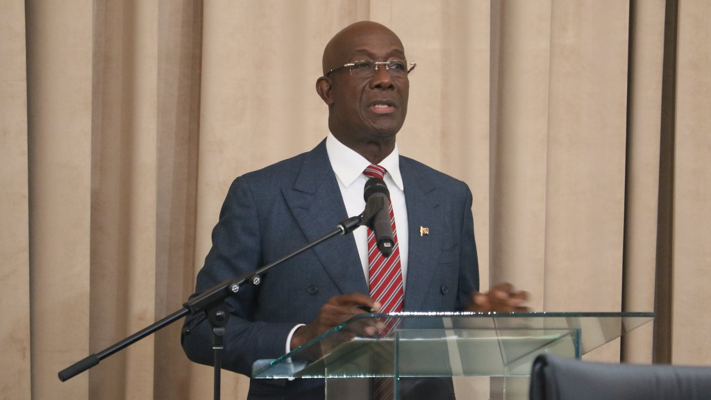 Pictured: Prime Minister Dr Keith Rowley. Photo via Facebook, the Office of the Parliament.