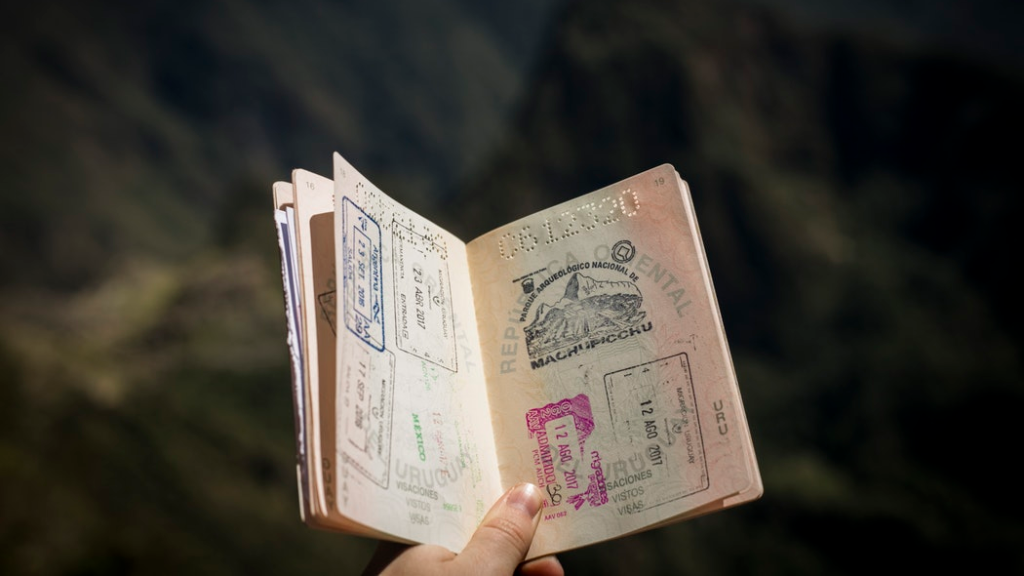 Stamps in a passport (FILE)