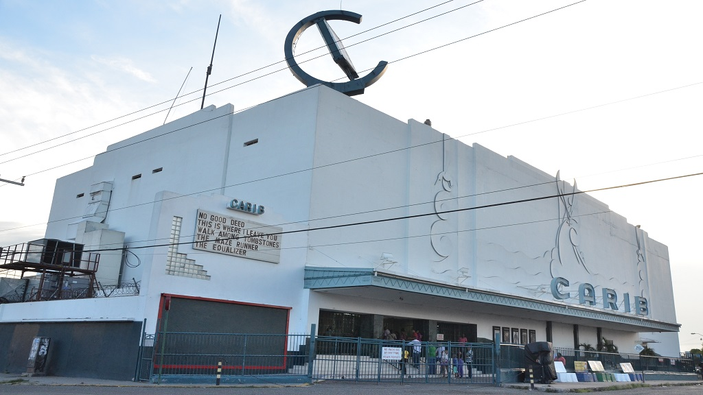 The popular Carib movie theatre in Cross Roads.