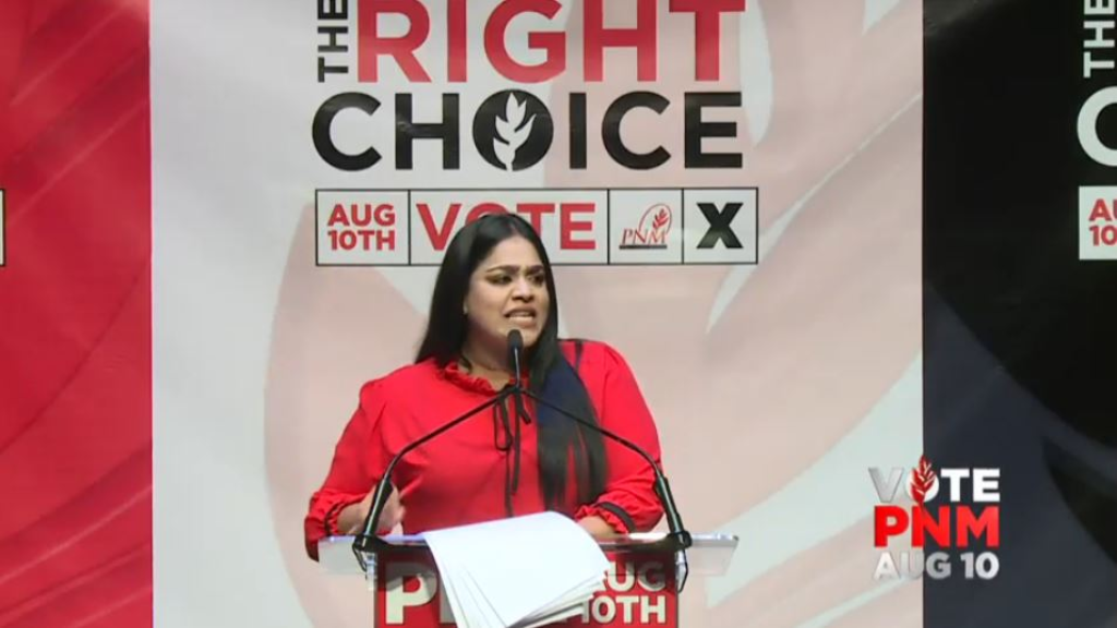 Pictured: PNM candidate for St Augustine Renuka Sagramsingh-Sooklal.