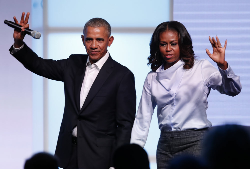 """The Michelle Obama Podcast"" sera diffusé sur Spotify. Photo Jim YOUNG/AFP"
