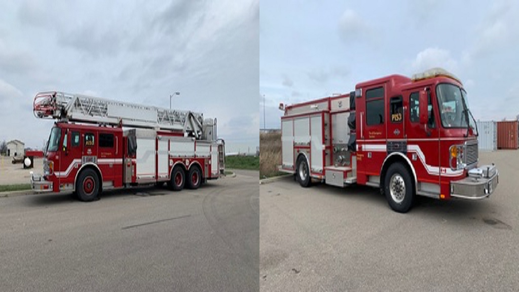 Donated fire trucks