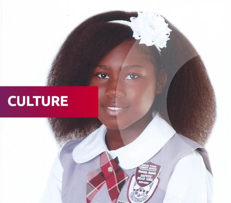 Roanna Saintil, fillette d'origine haïtienne, classée 5e meilleurs écoliers du primaire à Nassau. Photo: Courtoisie Rony Saintil