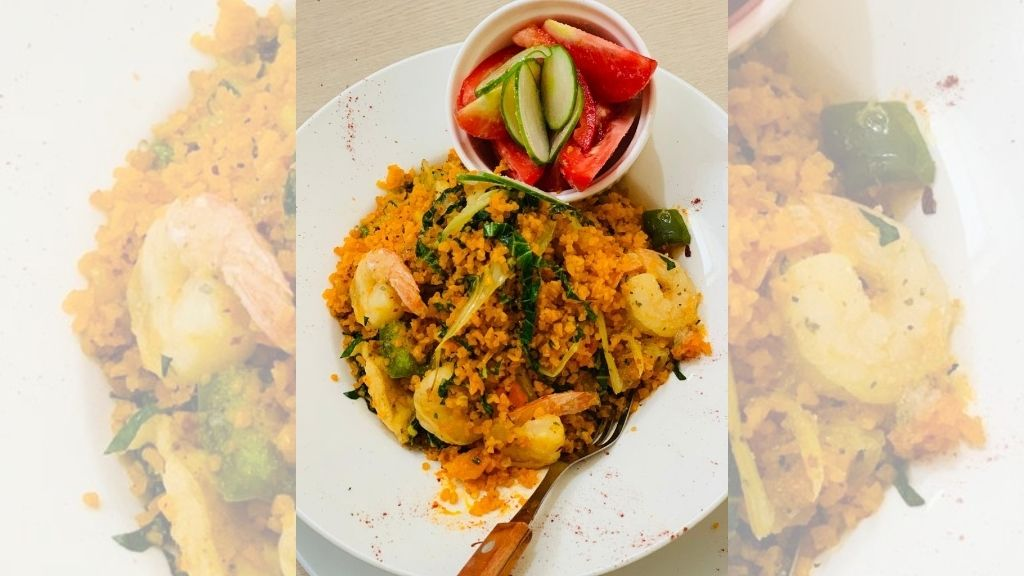 A serving of Quinoa shrimp fried rice from the Pizzazz Fusion kitchen. (Photos: Contributed)