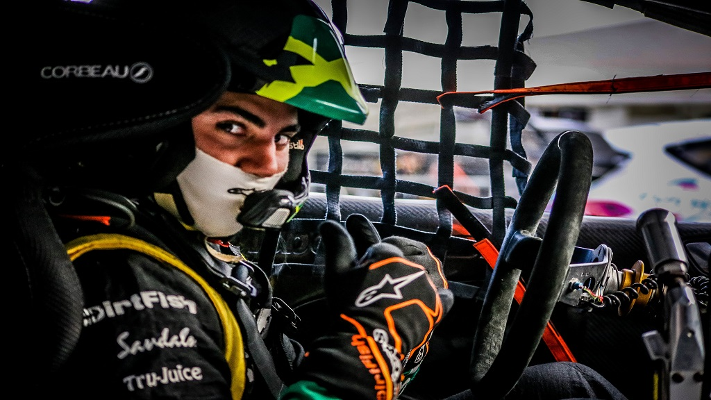 Standout Jamaican driver Fraser McConnell  at the All-Star 'Magic Weekend' in Sweden. (PHOTO: RallyX Nordic).
