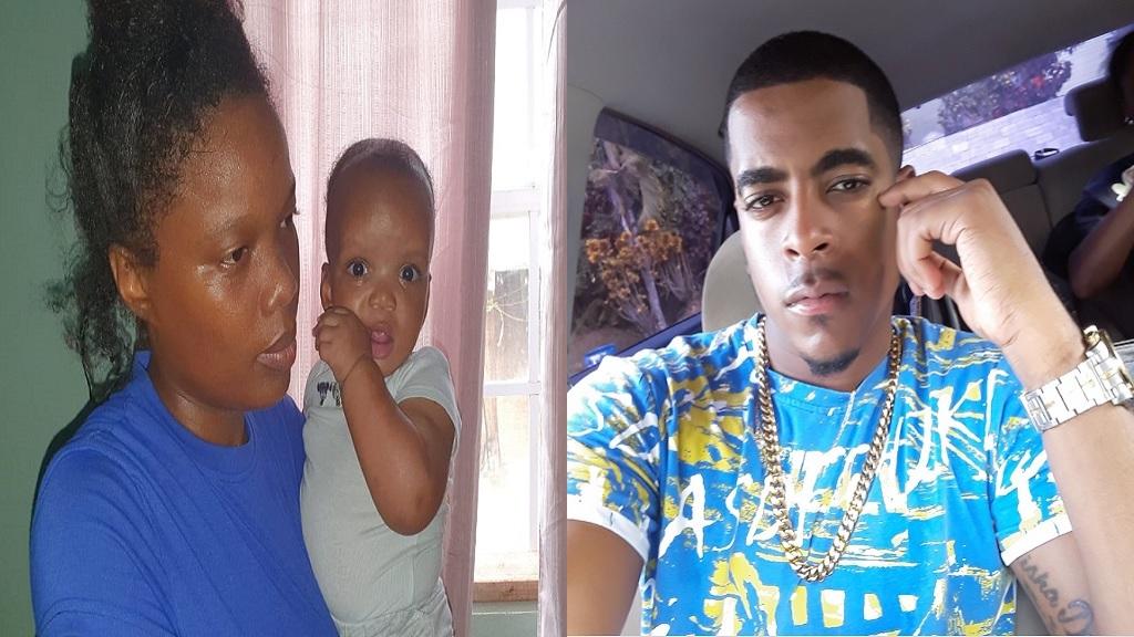 Soriah John with baby (left), Dexter Felix Jr (right)