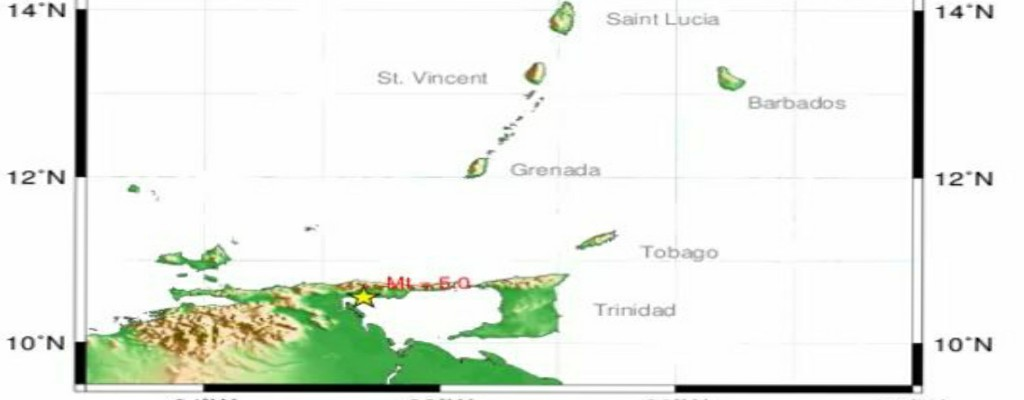 According to the UWI Seismic Research Centre, the quake took place at 11.46 am at a depth of three kilometers.