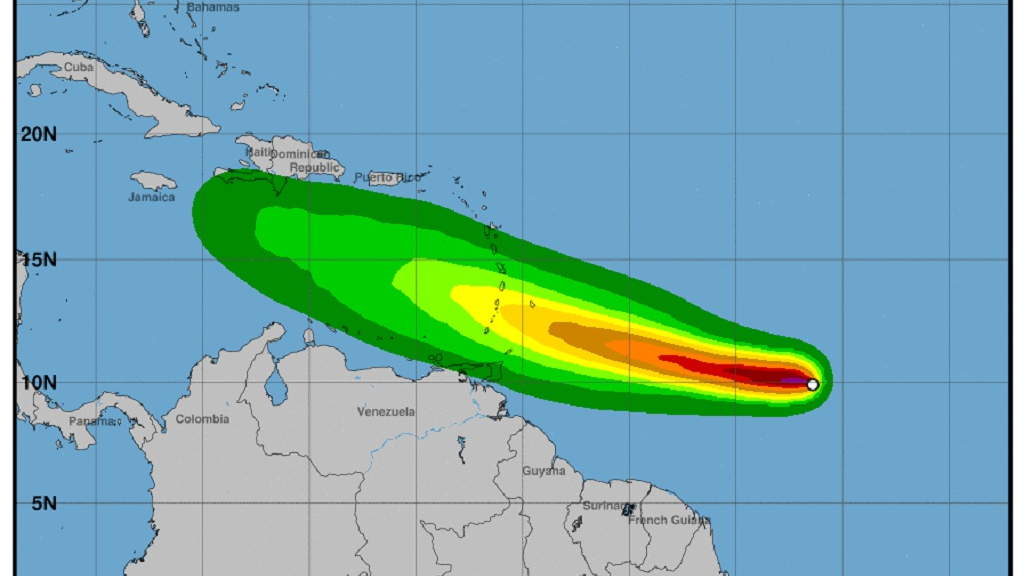St Vincent and the Grenadines under Hurricane Watch