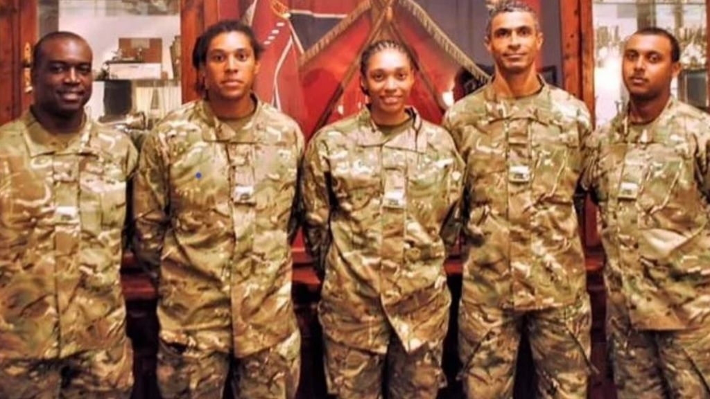 """""""To Theo, Shanice, Jonassi, Halston and Gabi, we are very proud of what you have achieved,"""" said the governor of the five junior officers. Image source: exploregov.ky"""