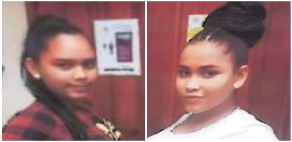 From left to right: Alejandra Del Valle Aviles and Mayuris Del Carmen (Photos provided by the Trinidad and Tobago Police Service)