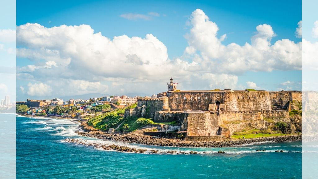 Panoramic landscape of historical castle El Morro along the coastline, San Juan, Puerto Rico. (AP Photo)