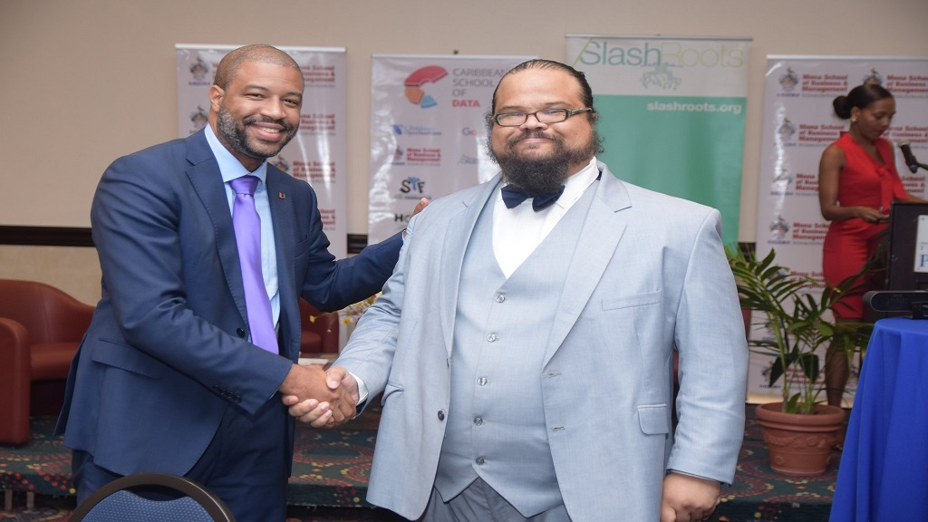 David Mullings, Member of Advisory board, CSOD and David Soutar of the Caribbean Open Institute (COI) and SlashRoots Foundation at the CSOD launch in October 2019.
