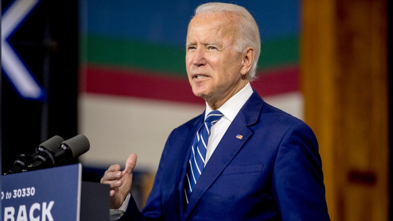 Democratic presidential candidate former Vice President Joe Biden speaks at a campaign event at the Colonial Early Education Program at the Colwyck Training Center, Tuesday, July 21, 2020 in New Castle, Del. (AP Photo/Andrew Harnik)