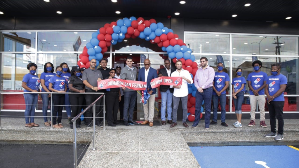 Domino's is now open at Gulf View, San Fernando. Photo courtesy Domino's.