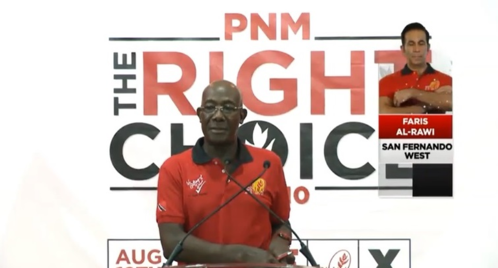 Political Leader of the PNM, Dr Keith Rowley