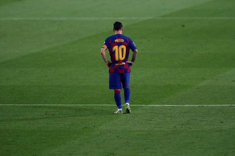 Le cri du coeur de Messi. AFP