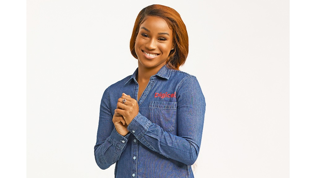Digicel's newest brand ambassador Briana Williams.