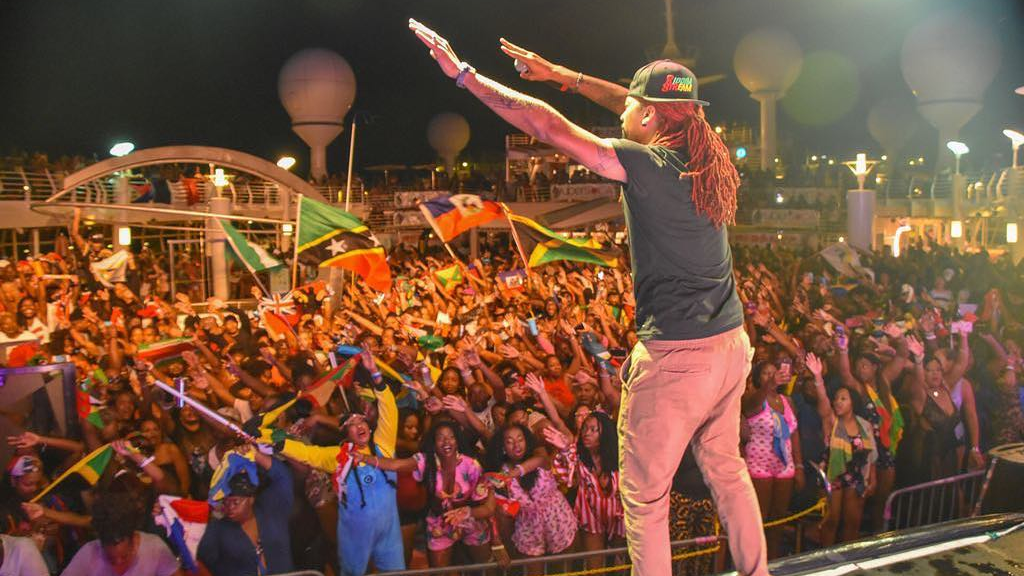 DJ Stephen on stage during an Ubersoca Cruise event (FILE)