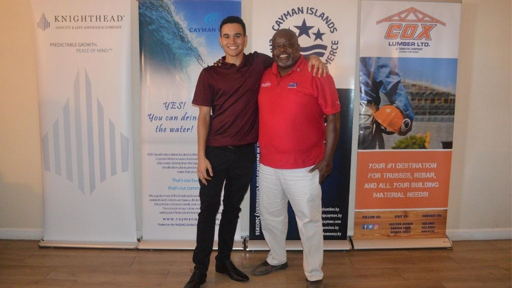 James Powell with his mentor, Mark Jordan.