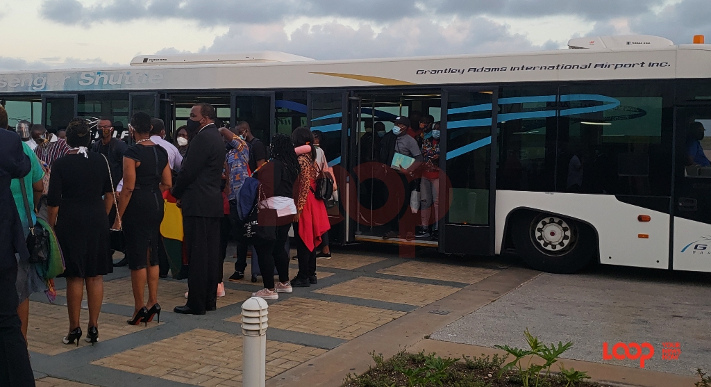 Ghanaians arriving in Barbados on July 30.