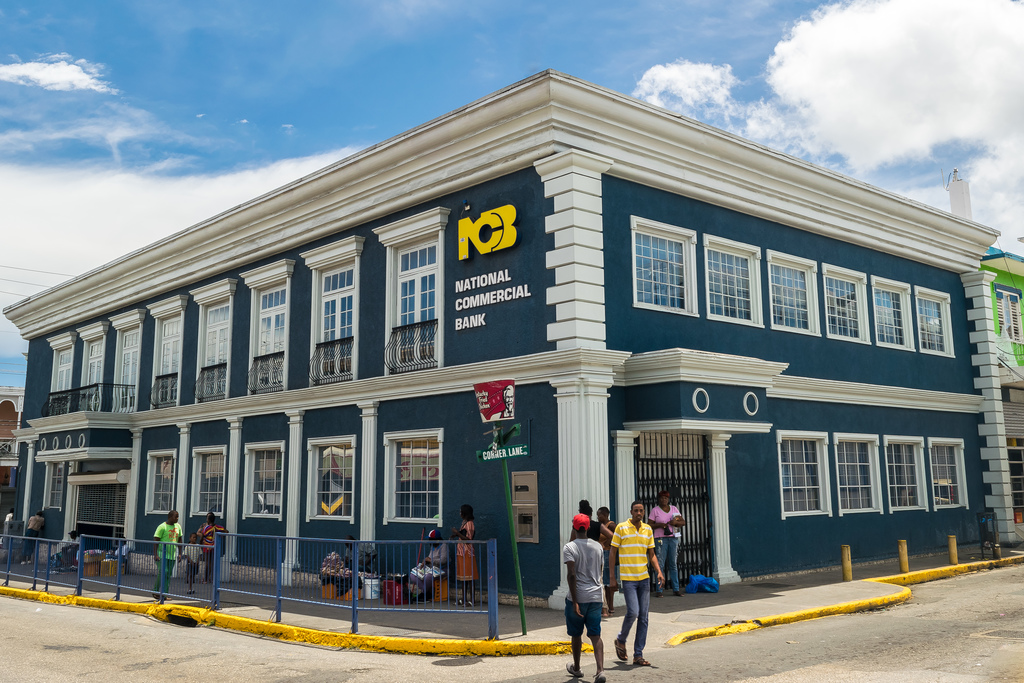 File photo shows NCB's branch on St James Street, Montego Bay.