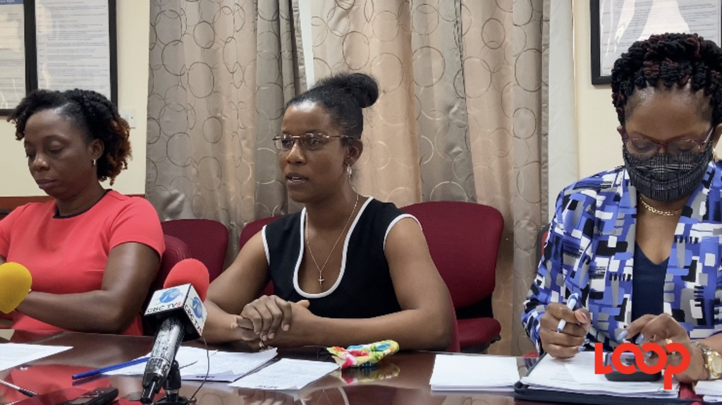 (From Left) General secretary of the Barbados Workers' Union, Toni Moore, legal officer Lesley Trotman-Edwards and Evette Gibson, senior assistant general secretary.