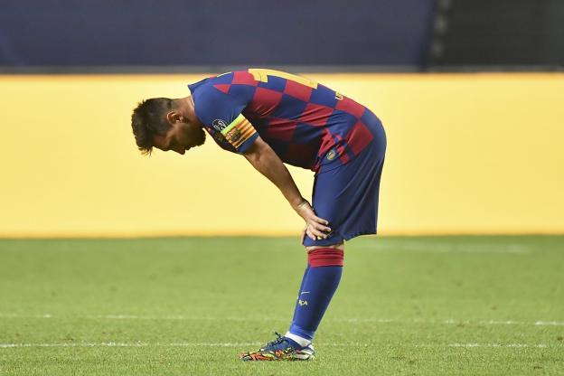 Depuis la débâcle de Barcelone face au Bayern Munich (2-8), Lionel Messi veut quitter le Barça. (Hoermann/SvenSimon/Pool/Witters/Presse Sports)