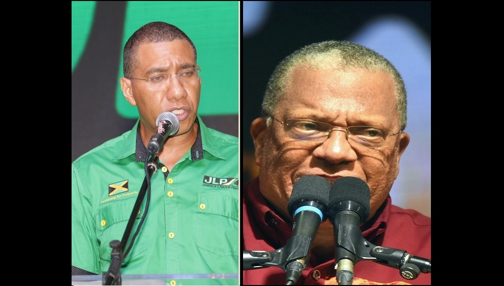 Andrew Holness (left) and Dr Peter Phillips