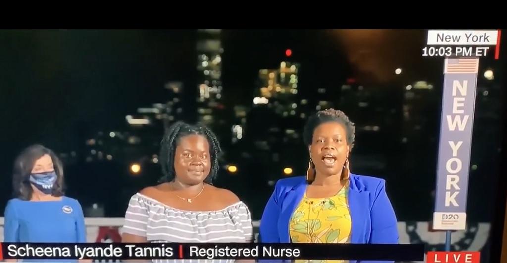 Vincentian born registered nurse Scheena Tannis