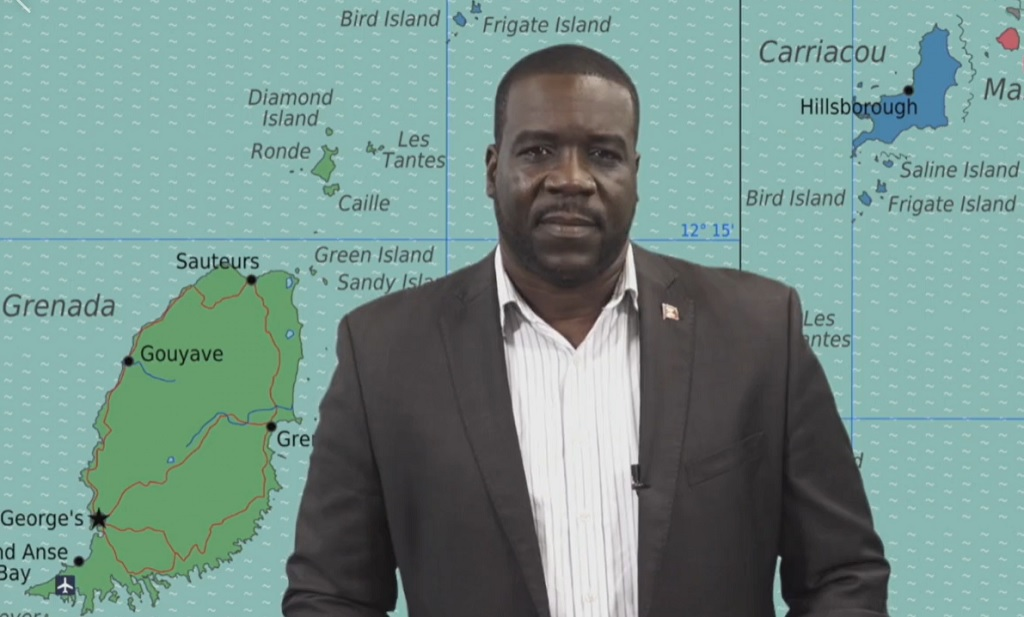 Screen grab of Minister of Culture for Grenada Norland Cox.