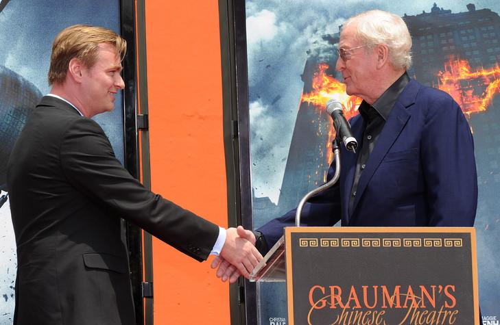 Le réalisateur britannique Christopher Nolan et l'acteur Michael Caine en juillet 2008 à Hollywood, en Californie / AFP/Archive