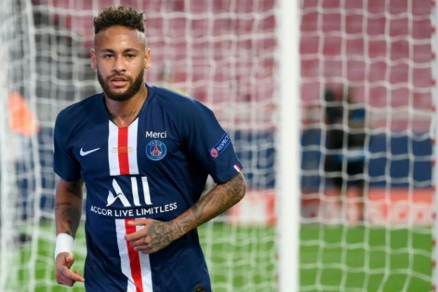 Neymar, le 23 août 2020 à Lisbonne, lors de la finale de la Ligue des champions entre le PSG et le Bayern Munich LLUIS GENE POOL/AFP/Archives