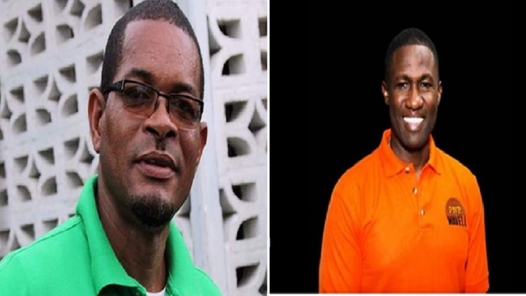 Dave Brown (left) and Wavell Hinds who are squaring off for the Eastern Hanover seat.