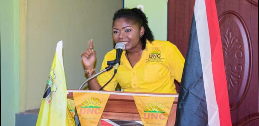 The United National Congress' (UNC) Michelle Benjamin won the Moruga/Tableland seat by a significant margin over her opponent Winston 'Gypsy' Peters. Photo via Facebook