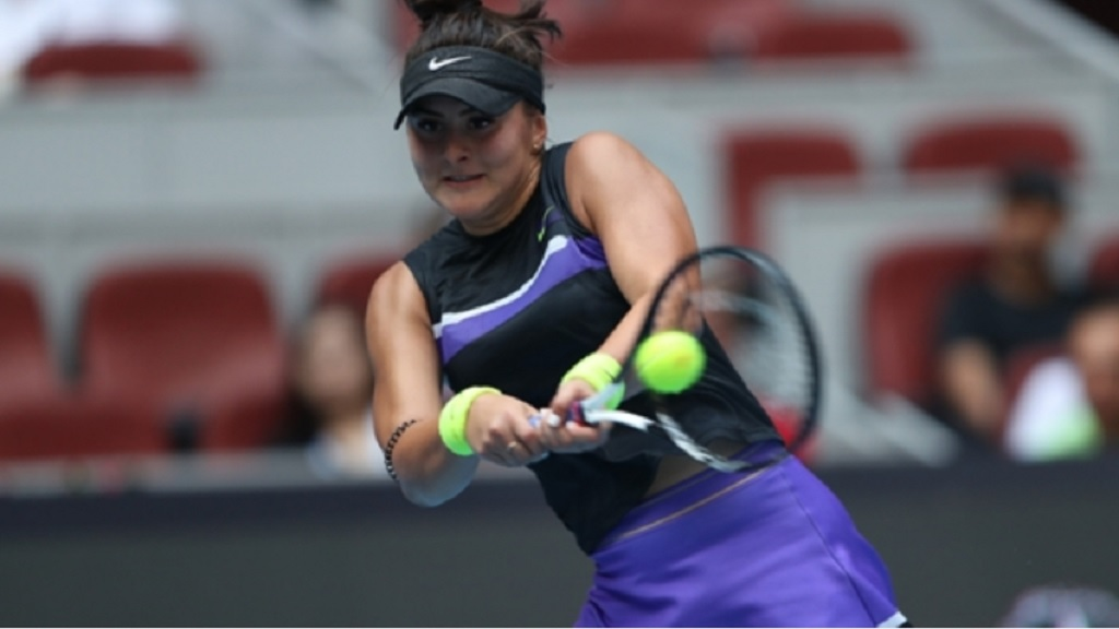 Bianca Andreescu at the China Open. (PHOTO: Getty Images).