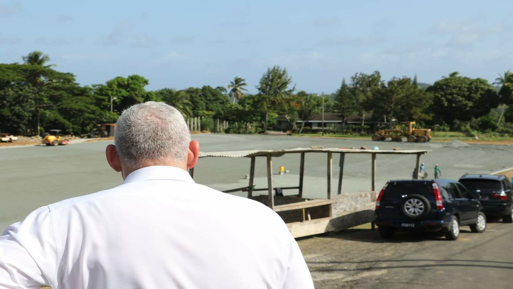 Prime Minister Allen Chastanet visits the Desruisseaux Playing Field