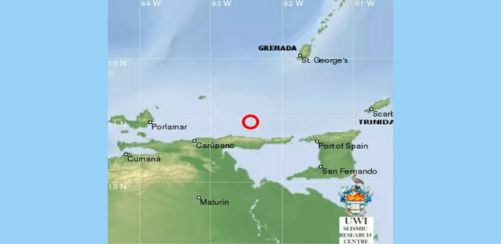 According to the UWI Seismic Research Centre, the quake occurred around 8.03 pm at depth of 10 km.