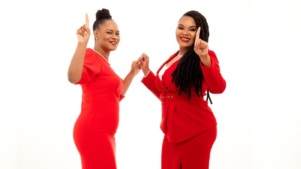 The PNM's candidates for Tobago East and West, Ayanna Webster-Roy (left) and Shamfa Cudjoe (right).