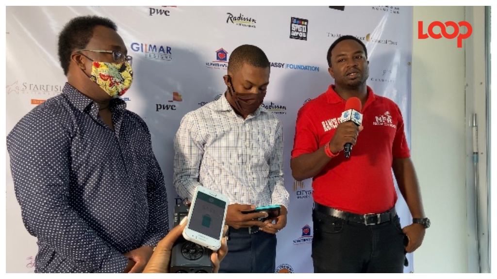 (From Left) Shawn Clarke, CEO of Supreme Counselling, Kemar Saffrey president of the Barbados Alliance to End Homelessness and founder of Nature Fun Ranch Corey Lane speaking at press conference.