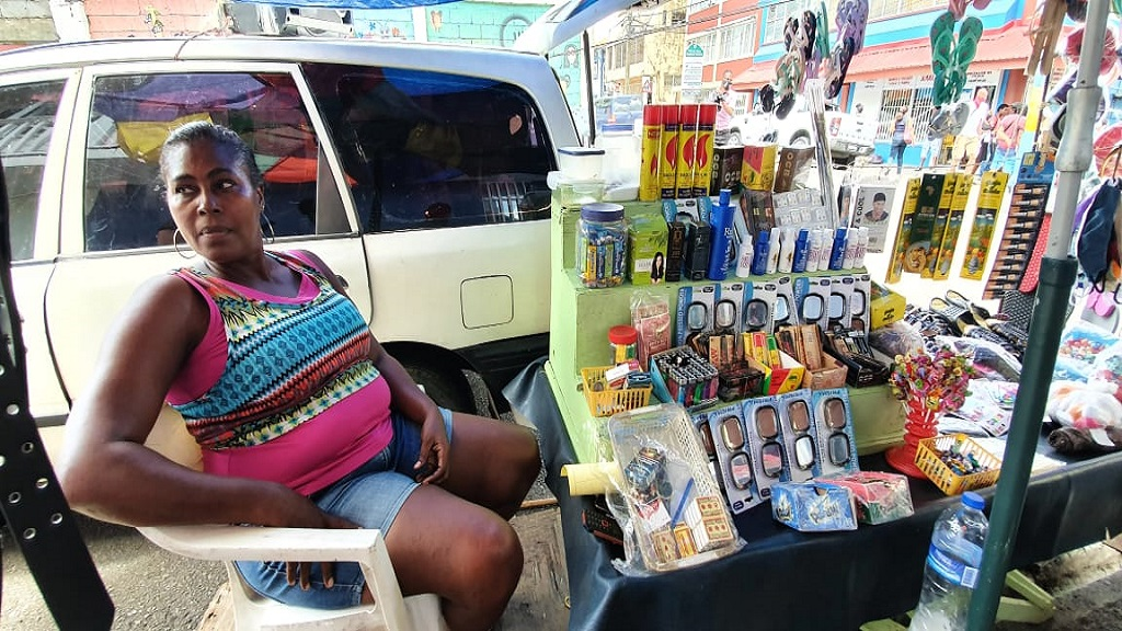 Castries vendor, Adella James