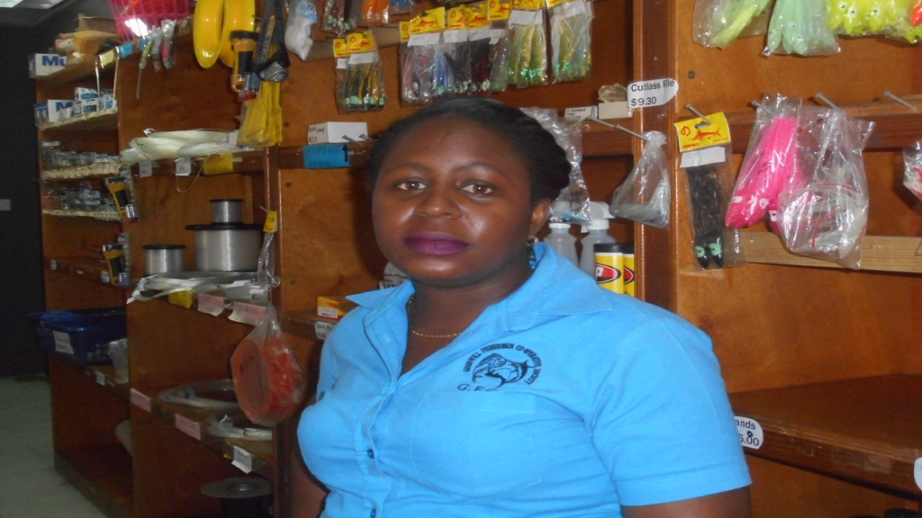 Operations Manager of the Goodwill Fishermen Co-operative of Vieux-Fort, Kaygianna Charlery